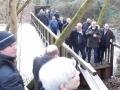 Andrang bei der Brückenbegehung