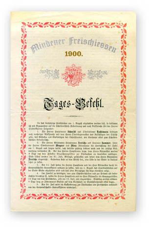 Bataillonsbefehl zum Freischiessen 1900