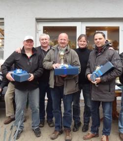 von links: Junggesellen-Spieß, Sergeant Ulrich Wesemann, Kompanie-Feldwebel Eugen Gawelczyk, Oberleutnant Bernd Jordan, Hauptmann und Kompaniechef Dr. Dirk von Behren, Sascha  Renneberg