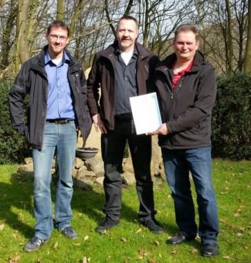 Neue Schießleiter: (von links) Thomas Horn, Torsten Engelhardt und Ulrich Wesemann